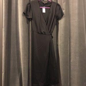 NWT: Banana Republic Black Midi Wrap dress